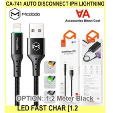 Ca-741 Auto Disconnect iPh Lightning LED Fast Char - [1.2 METER,BLACK]
