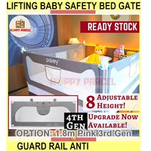 Lifting Baby Safety Bed Gate Guard Bed Rail Anti - [1.8M,PINK 3RD GEN]