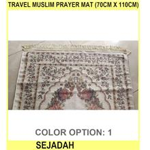 Travel Muslim Prayer Mat (70cm X 110cm) - SEJADAH - [1]