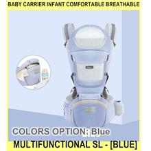 Baby Carrier Infant Comfortable Breathable Multifunctional Sl - [BLUE]