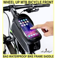 Wheel Up Mtb Bicycle Front Bag Waterproof Bike Frame Saddle Phone Case