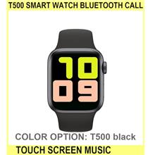 T500 Smart Watch BLUETOOTH Call Touch Screen Music Smar - [T500 BLACK]