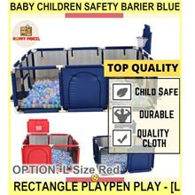 Baby Children Safety Barier Blue Rectangle Playpen Play - [L SIZE,RED]
