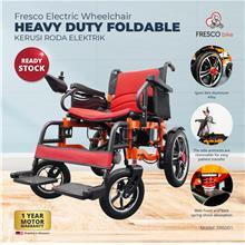 Fresco Electric Wheelchair Heavy Duty Foldable (Red Seat)