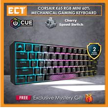 Corsair K65 RGB Mini 60% Mechanical Gaming Keyboard - Cherry MX Speed