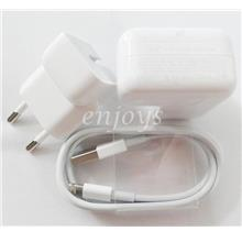 100% ORIGINAL 12W Charger A1401 USB Cable Apple iPad Air 1 2 Pro ~2Pin