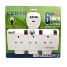 CENTO 6-PLUG EXTENSION SOCKET (CT-7633NS)