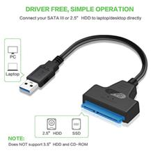 USB 3.0 SATA Cable - Sata To USB Adapter for HDD 2.5 Inches 22 Pin SSD Sata Dr