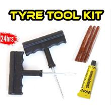 Tyre Puncture Instant Repair Full Set Tool Kit DIY Emergency Safety Tubeless T