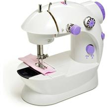 4 in 1 Mini Sewing Machine with Double Threads and Two Speed Control 202 203
