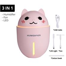 USB Humidifier Mini Air Purifier Freshener Diffuser With Fan And LED Light 3 I