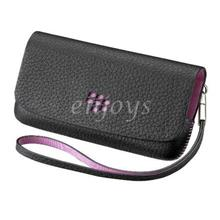 "ORI Leather Folio Slot In Pouch BlackBerry Pearl 3G 9100 9105 ~2.25"" B"