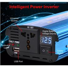 500W DC 12V To AC 220V Car Power Inverter Transformer USB Charger