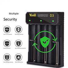 Yonni D3 3 Slot Battery Charger AWT Xtar 18350/18650/22650/25500/26650/AA/AAA