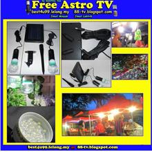 Rechargeable Lampu Pasar Malam Shop House Panel Solar Power LED Lamp