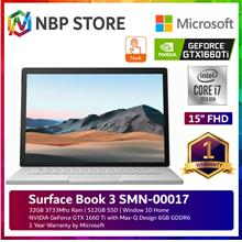 "Microsoft Surface Book 3 SMN-00017 15 "" Touch Platinum"