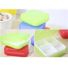 Mini 4 Slots Tablet Pill Organizer Box