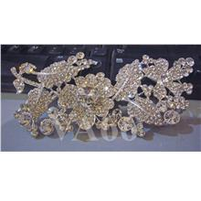 Rhinestone Diamond Brooch Silver Crystal Pin Jewellery Kerongsang