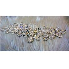 Vintage Look Diamond Rhinestone Brooch Chunky Crystal Kerongsang