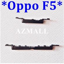 "NEW On /Off Power Volume Side Buttons Set for Oppo F5 (6.0"") ~BLACK"