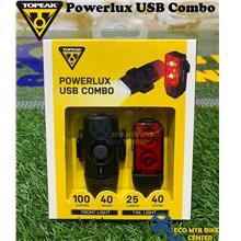 TOPEAK Powerlux USB Combo Headlux 100 + Taillux 25