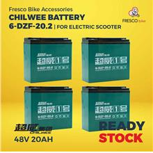 Electric Scooter/bike CHILWEE Battery 48V20AH 4PCS