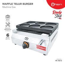 Waffle Telur Burger 6 Holes Stainless Steel Body Gas Machine