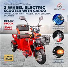 Electric Wheelchair 3 WHEEL ELECTRIC SCOOTER WITH CARGO OKU ELDERLY