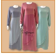 JUBAH DRESS MODERN FASHION BEADS DESIGN MUSLIMAH JUBAH LABUH