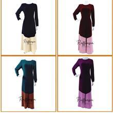 JUBAH DRESS RAFFEASIA MODERN DESIGN MATERIAL FUSAN