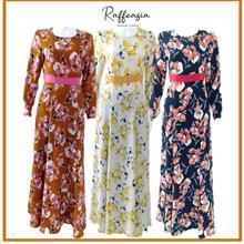 JUBAH MODERN MURAH RAFFEASIA SWEET PEA DRESS