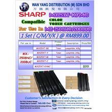 SHARP MX 2508NC/2008UC  CMYK/COLOR Copier Toner Cartridges