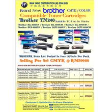 Brand New BROTHER TN240 CMYK/COLOR Compatible Toner Cartridges