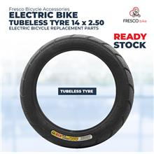 Electric Bicycle Tubeless Tyre 14x2.50 Electric Bike