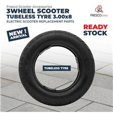 3 Wheel Electric Scooter (New) Tubeless Tyre 3.00x8