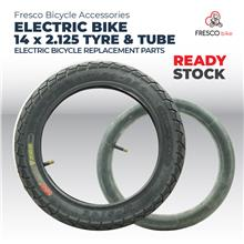 Electric Bicycle Tyre & Tube 14x2.125 Electric Bike
