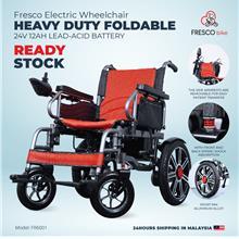 Electric Wheelchair Heavy Duty Foldable with Lead-Acid Battery (GREY)