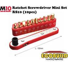 M10 Tools Ratchet Screwdriver Mini Set RS10 (10pcs)