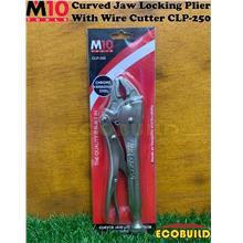 M10 Curved Jaw Locking Plier With Wire Cutter CLP-250