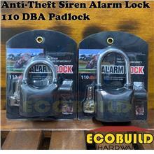 Anti-Theft Siren Alarm Lock 110 DBA Padlock for Door/Bike/Car