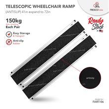 Telescopic Aluminium Wheelchair Ramp 150kg Cap each pair 36 x 7.5in