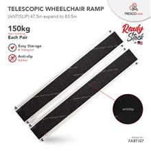 Telescopic Aluminium Wheelchair Ramp 150kg Cap each pair 48 x 7.5in