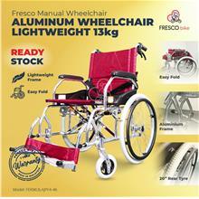 Aluminum Wheelchair Lightweight 13kg Big Wheel Solid Tyre (Manual)