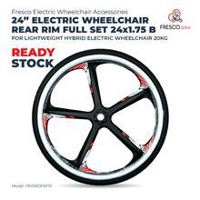 "24"" Electric Wheelchair Rear Rim Full Set 24x1.75 B"