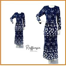 RAFFEASIA Baju Kurung Fashion Skirt Duyung (Corak Bunga Lukisan)