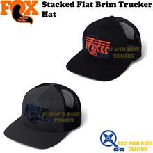 FOX Stacked Flat Brim Trucker Hat