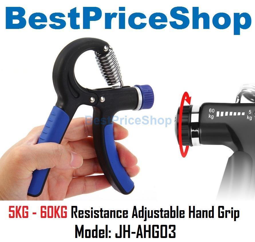 Adjustable Resistance Hand Grip Wrist Arm Strengthener Exerciser AHG03