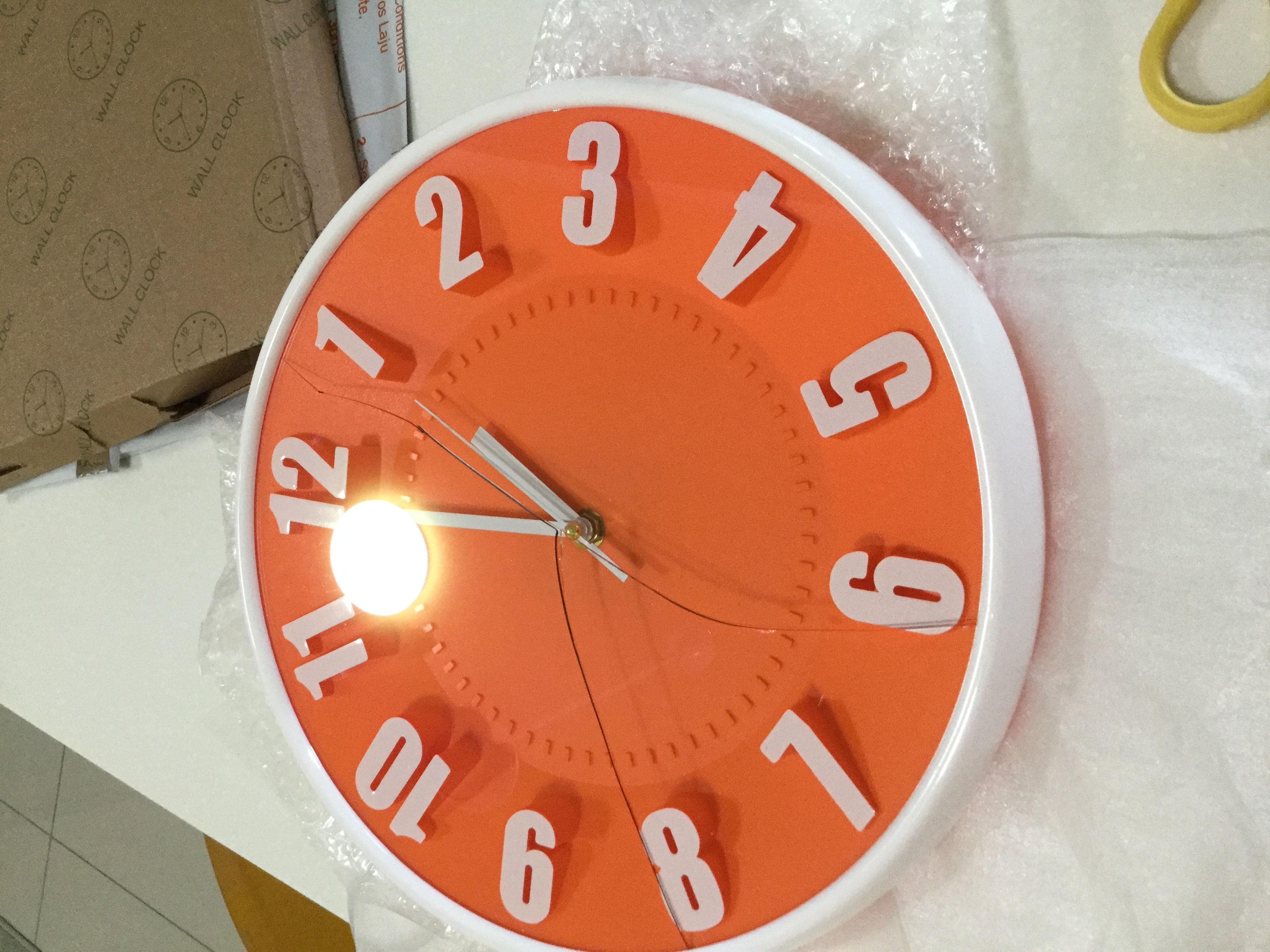 Perfect A Beautiful Clock But Arrived With Glass Terribly Cracked. Inadequate  Wrapping With Just One Layer Of Bubble Wrap And A Thin Cardboard Box. Amazing Ideas